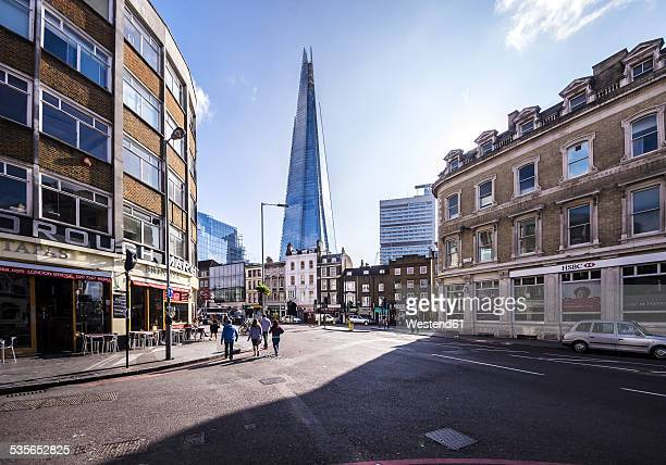 uk, london, southwark, view of the shard - southwark stock pictures, royalty-free photos & images