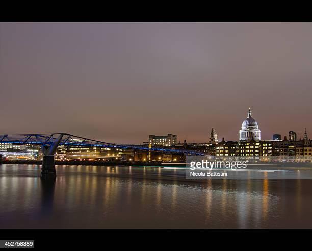 London, St Paul's Cathedral and Millennium Bridge