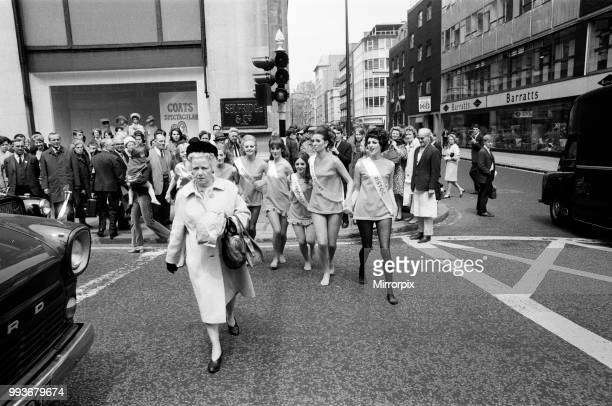 London stores are holding a shopping festival the 'Britain is Great' exhibition In Selfridges there was a 'charge of the tight' brigade' where seven...