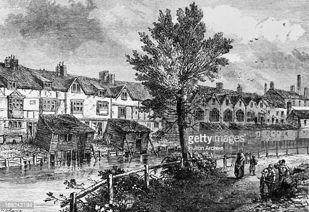 London Street Dockhead in the slum area of Jacob's Island Bermondsey south London circa 1810 Jacob's Island was bounded by St Saviour's Dock to the...