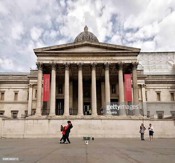 london, street performer - national gallery stock photos and pictures