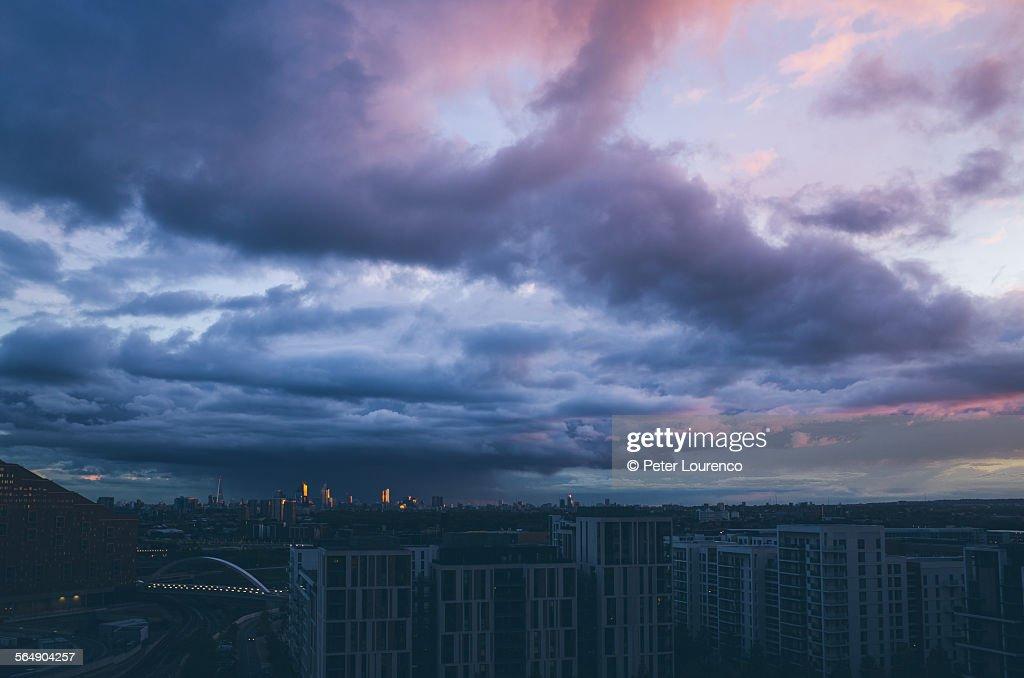 London sunset : Stock-Foto