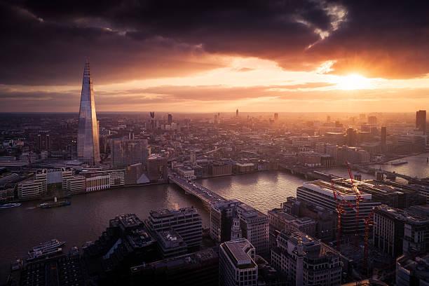 London Sunset View Wall Art