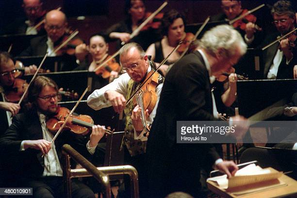 London Symphony Orchestra performing allBerlioz program at Avery Fisher Hall on Tuesday night March 4 2003This imageThe conductor Sir Colin Davis and...