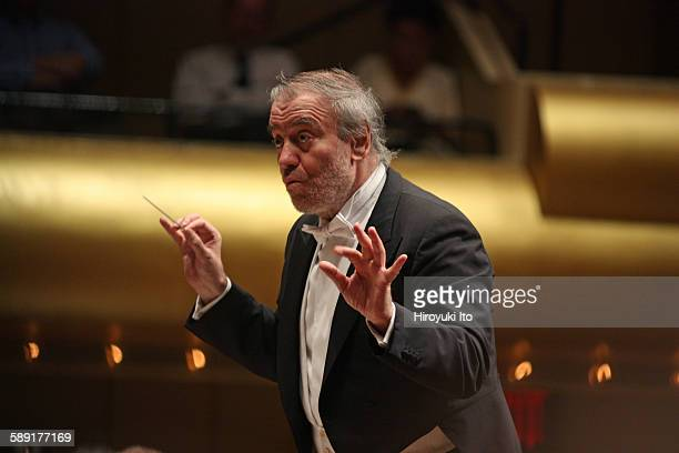 London Symphony Orchestra performing at David Geffen Hall on October 23, 2015.This image:Valery Gergiev leading the London Symphony Orchestra in...