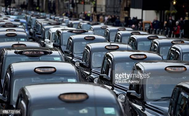 London Taxi drivers protest in the centre of London to call for a public enquiry into Transport for London and protest against air pollution levels...