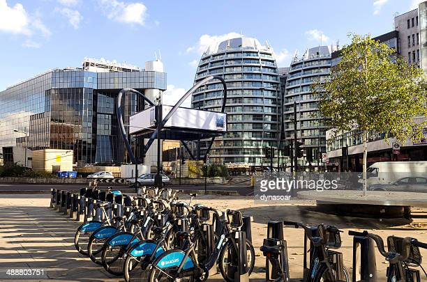london tech city, old street roundabout - shoreditch stock photos and pictures