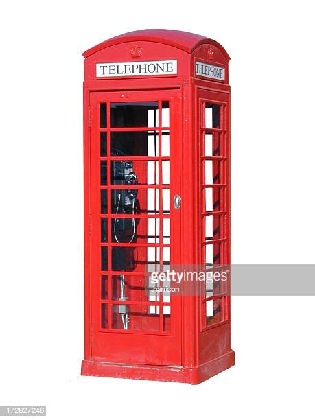 london telephone booth cutout - red telephone box stock pictures, royalty-free photos & images