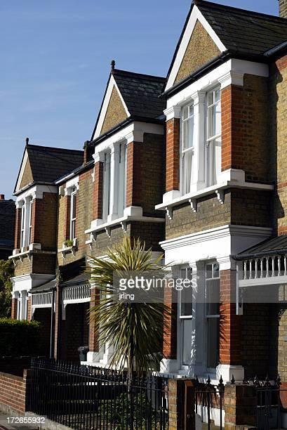 londres maisons en terrasse avec palmier - edwardian fashion photos et images de collection