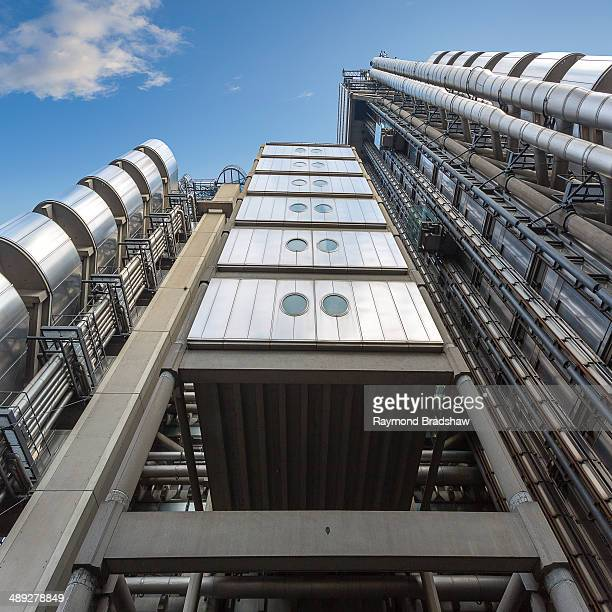 London, the financial district, the Lloyds building, one of the modern masterpieces of the central business district.