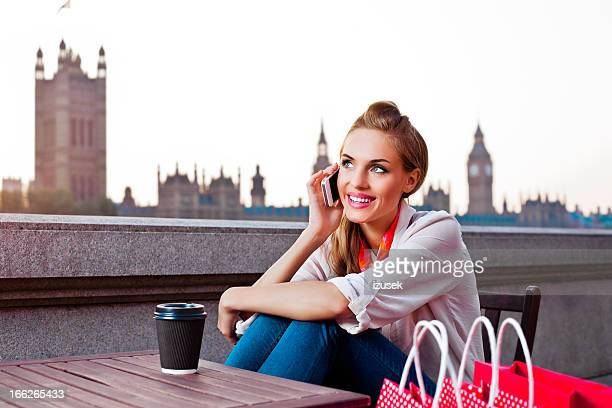 London Tourist with mobile phone