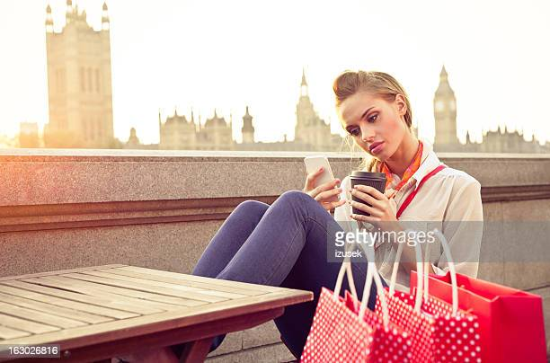 London Tourist with Smart Phone