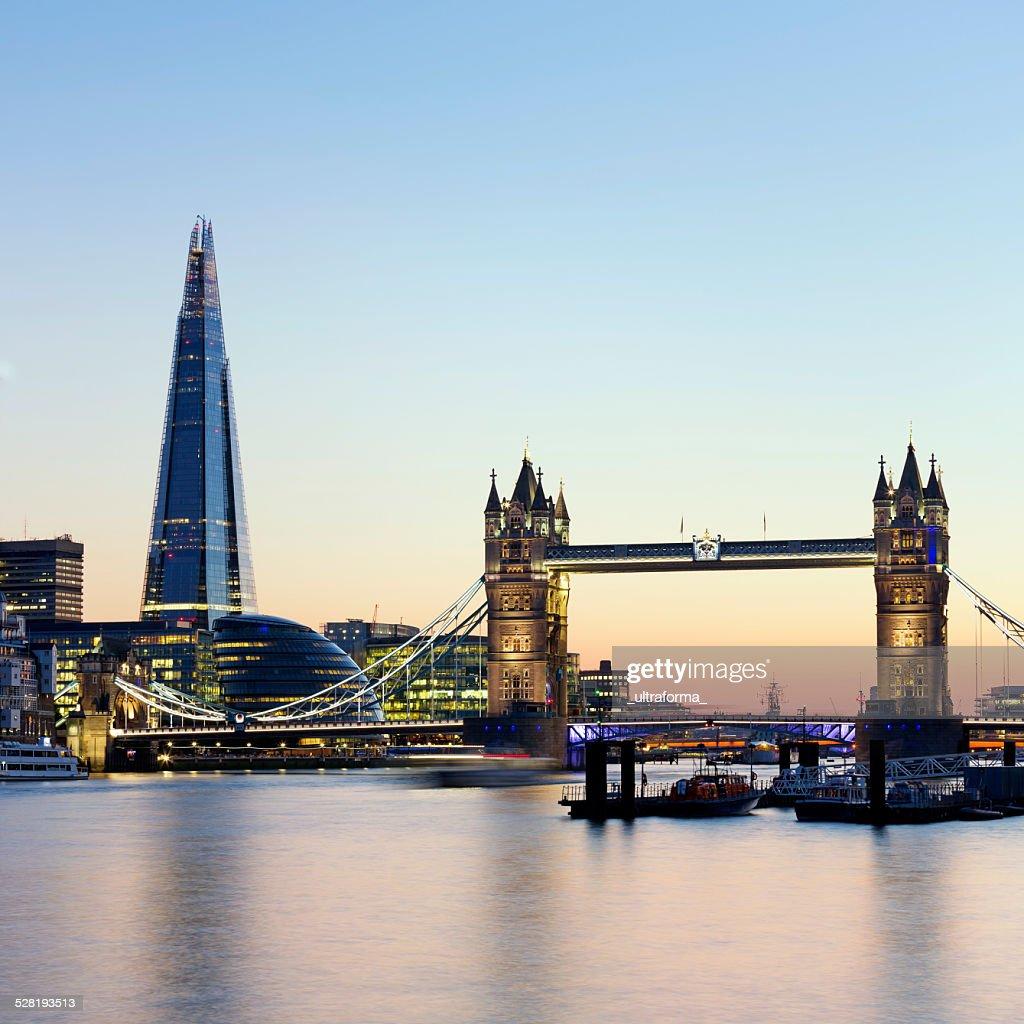 London Tower Bridge and The Shard : Stock Photo