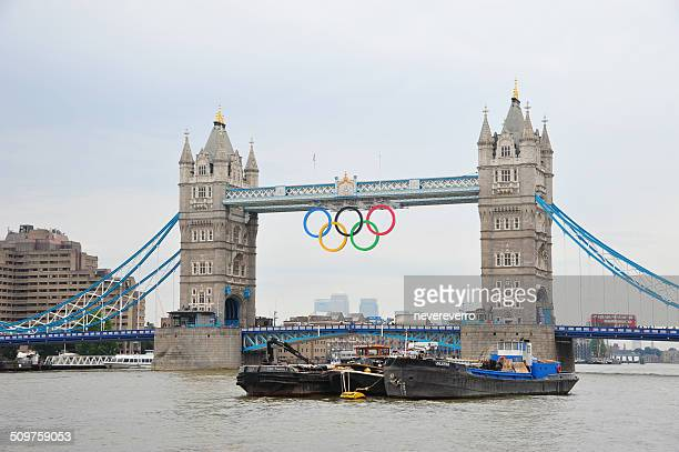 london - tower bridge during olympics - 2012 summer olympics london stock photos and pictures