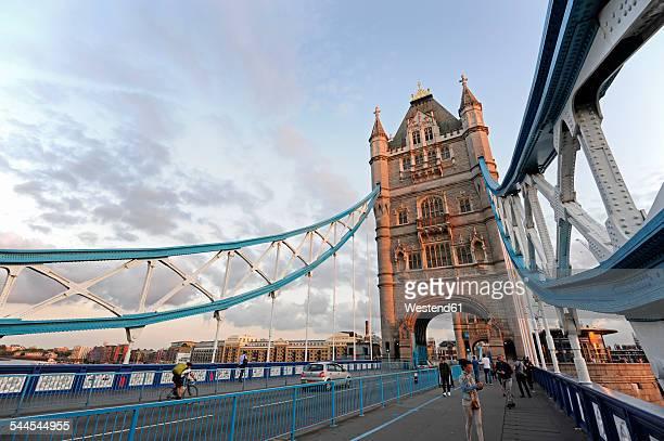 uk, london, tower bridge looking towards the south bank - london bridge england stock pictures, royalty-free photos & images