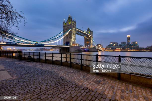 london tower bridge - dramatic sky stock pictures, royalty-free photos & images