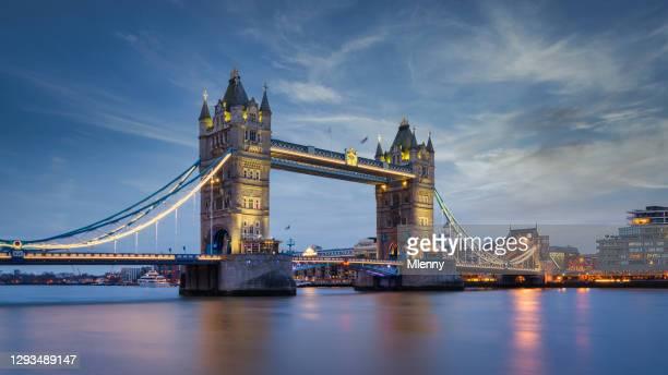 london tower bridge sunset twilight panorama river thames uk - british royal family stock pictures, royalty-free photos & images