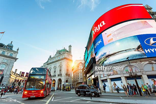 London Traffic in  Piccadilly circus