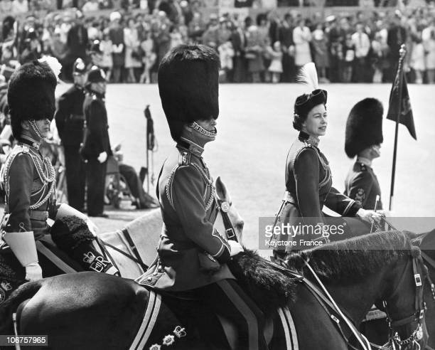 London Trooping The Colour Ceremony Queen Elizabeth Ii And The Duke Of Edinburgh In June 1965