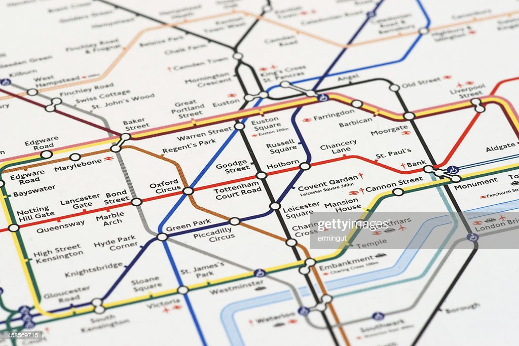 London tube map printed on mouse pad : Stock Photo