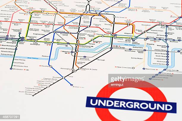 London tube map printed on mouse pad