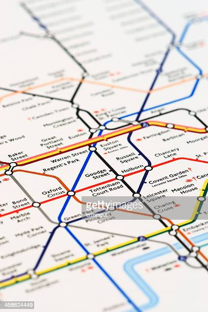 London tube map printed on mouse pad - vertical