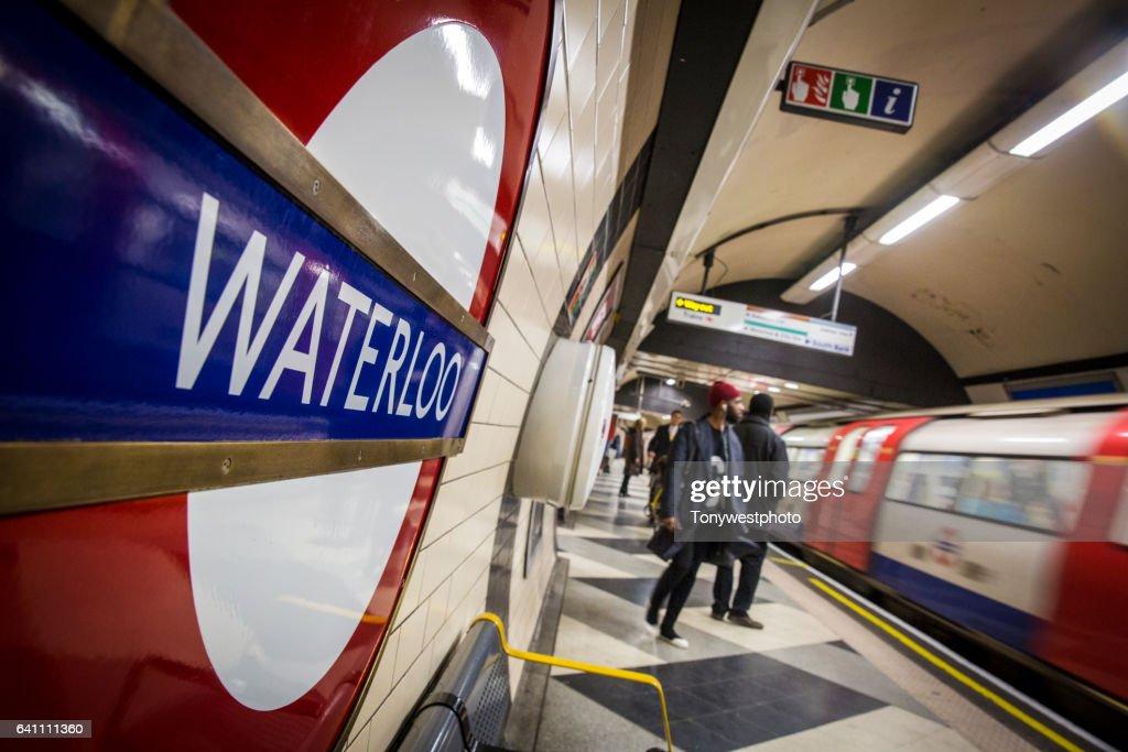London Tube subway Waterloo Station : Stock Photo