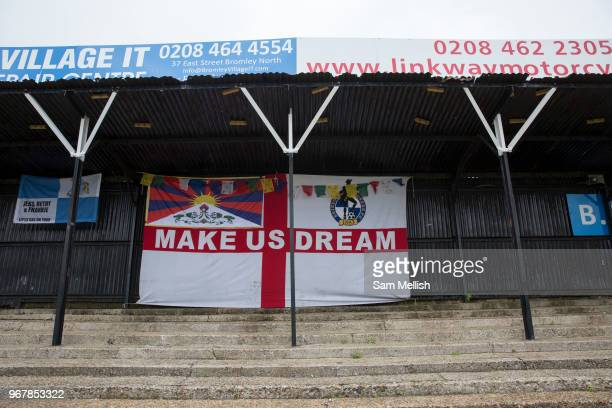 London Turkish AllStars Vs Tibet during the Conifa Paddy Power World Football Cup Placement Match A on the 5th June 2018 at Bromley in the United...