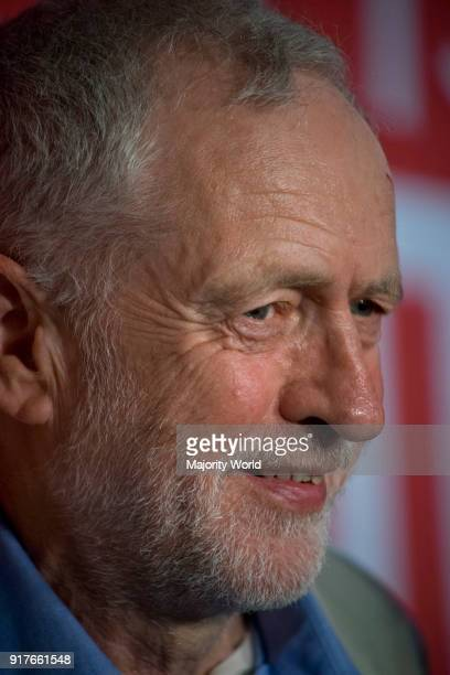 London UK 14th June 2016 Jeremy Corbyn speaks at Labour Remain in Europe campaign event with shadow cabinet supporting the NHS at TUC HQ