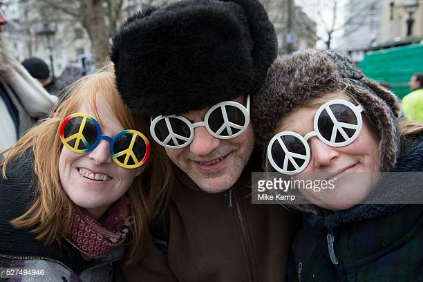 London UK Saturday February 27th 2016 Stop Trident CND demonstration against Britain's Trident nuclear weapons system Thousands of protesters made...
