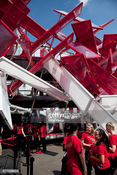 London UK Thursday 9th August 2012 London 2012 Olympic Games Park in Stratford Coca Cola Beatbox an iconic interactive Olympic Park Pavilion that can...