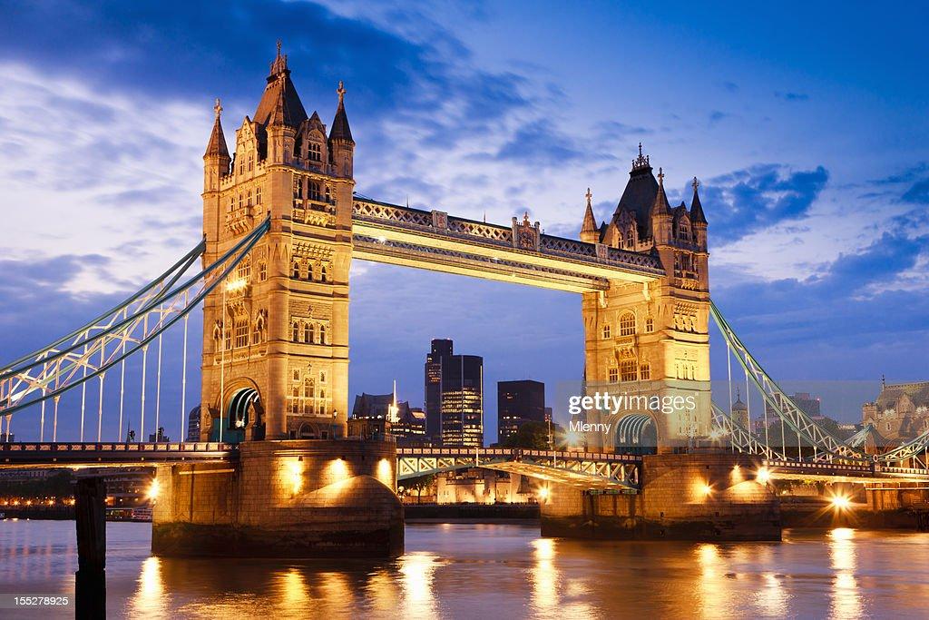 london uk tower bridge at river thames sunset twilight scene stock photo getty images. Black Bedroom Furniture Sets. Home Design Ideas