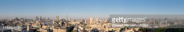 london under blue skies - bethnal green stock pictures, royalty-free photos & images