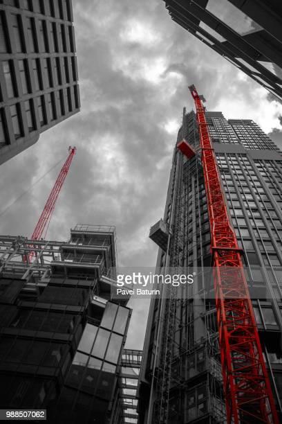 london under construction - pavel foundation stock-fotos und bilder
