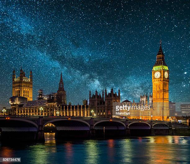 london under the stars - houses of parliament london stock photos and pictures