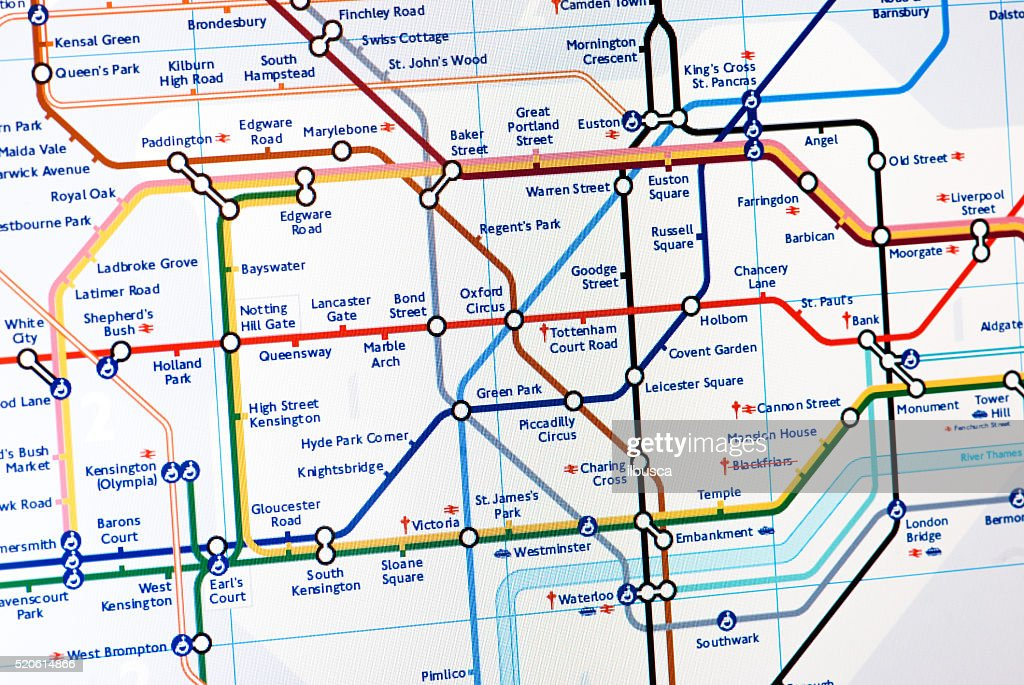 Angel London Map.London Underground Map Stock Photo Getty Images