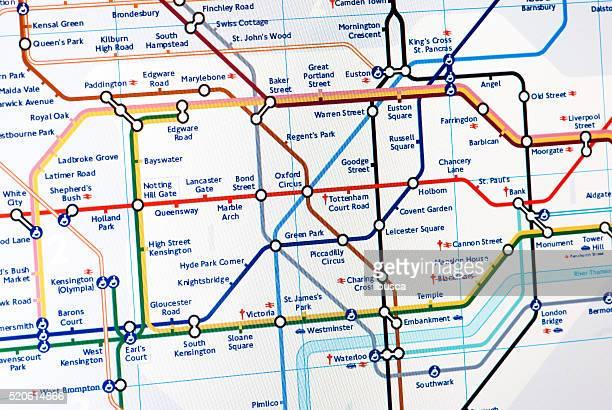 mappa della metropolitana di londra - metropolitana di londra foto e immagini stock