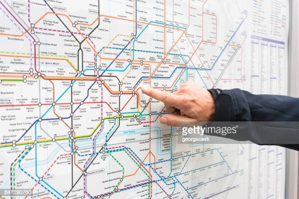 London Underground map - planning a route