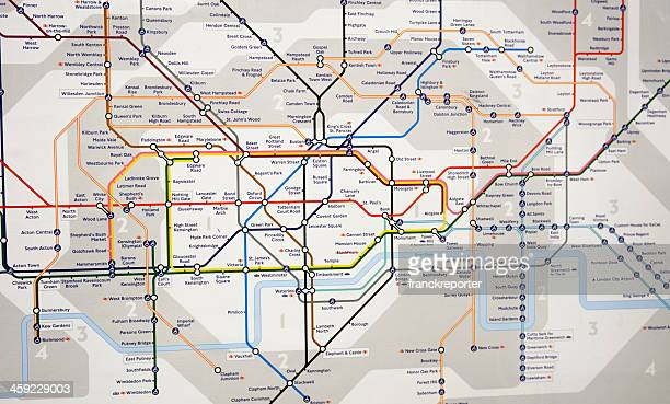 london underground map - subway metro station - maps stock photos and pictures