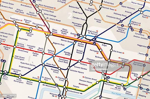 mappa della metropolitana-la stazione della metropolitana - metropolitana di londra foto e immagini stock
