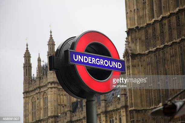 london underground sign - underground sign stock pictures, royalty-free photos & images