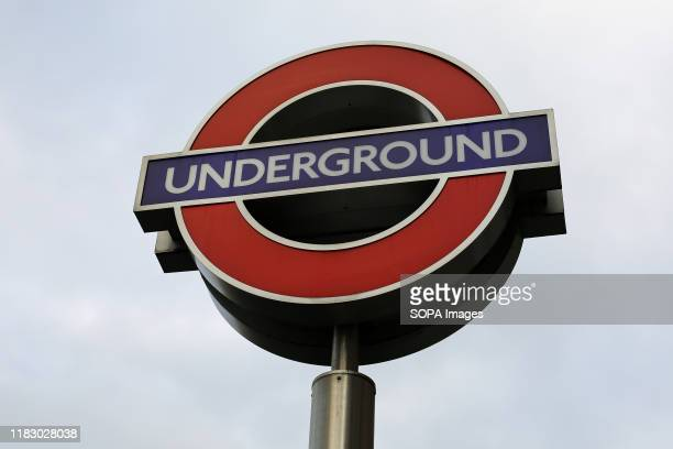 London underground sign seen at King's Cross