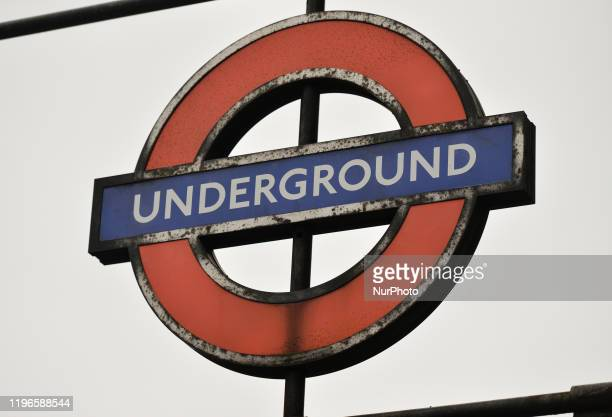London Underground sign seen at the entrance to Westminster Metro Station On Wednesday 22 January 2019 in London United Kingdom