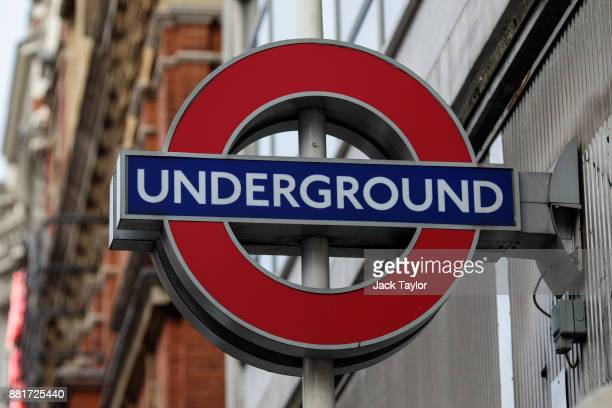 London Underground sign sits on the side of Sloane Square tube station on November 29 2017 in London England The American actress Meghan Markle is to...
