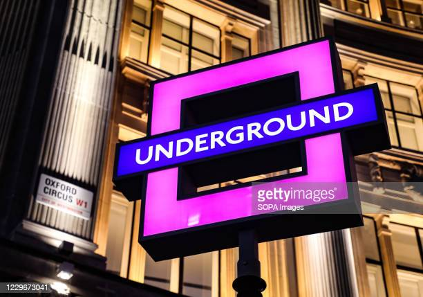 London Underground signs at Oxford Circus have been transformed into Sony PlayStation Symbols to celebrate the release of the brand new PlayStation 5...