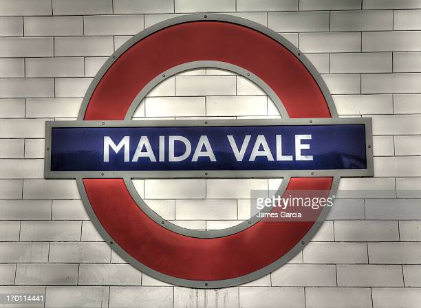 CONTENT] London Underground taken at Maida Vale station Image shows a dirty station sign with residual dirty water running from the lower part of the...
