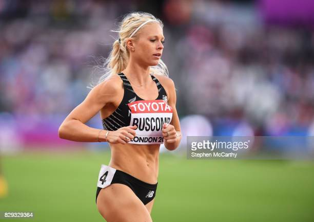 London United Kingdom 10 August 2017 Camille Buscomb of New Zealand during round one of the Women's 5000m event during day seven of the 16th IAAF...