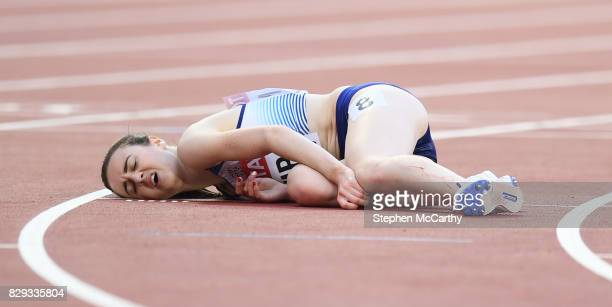 London United Kingdom 10 August 2017 Laura Muir of Great Britain following round one of the Women's 5000m event during day seven of the 16th IAAF...