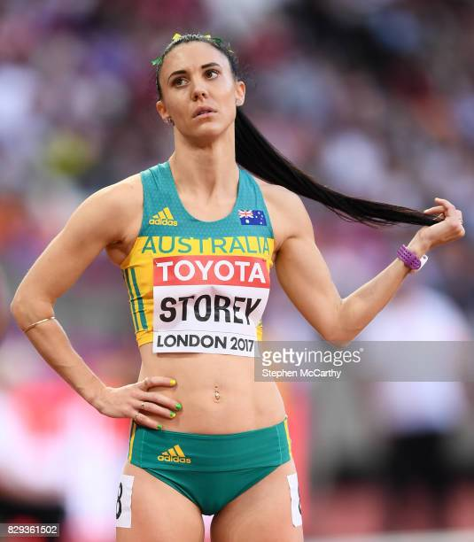 London United Kingdom 10 August 2017 Lora Storey of Australia during round one of the Women's 800m event during day seven of the 16th IAAF World...