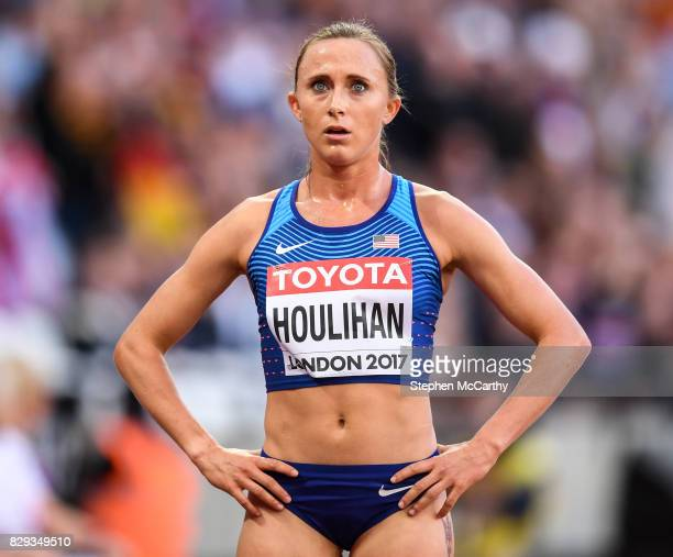 London , United Kingdom - 10 August 2017; Shelby Houlihan of the USA following round one of the Women's 5000m event during day seven of the 16th IAAF...